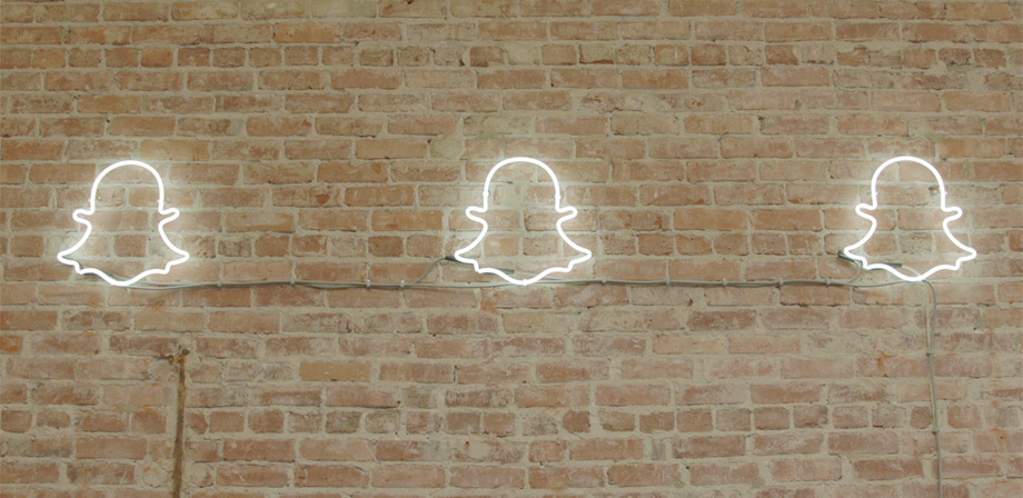 Snapchat ghost wall 920x448px