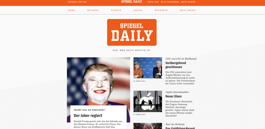 Screenshot SPIEGEL DAILY (Pressematerial)