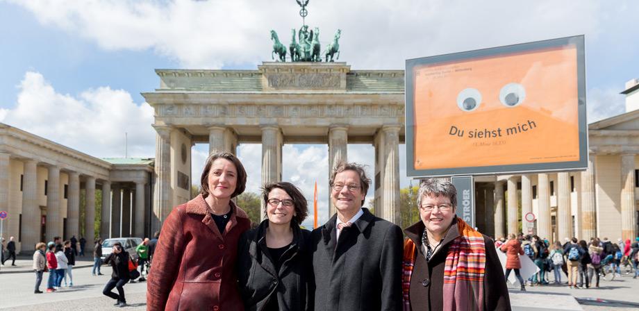 Generalsekretärin Ellen Ueberschär, Kirchentagspräsidentin Christina Aus der Au, Bischof Markus Dröge (EKBO), Landesbischöfin Ilse Junkermann (EKM) (Foto: © DEKT/Christian Lietzmann)